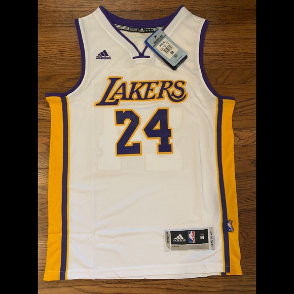 Shirts & Tops | Kobe Bryant 24 White Lakers Youth Kids Jersey ...